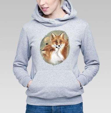Влюбленные лисы - Купить детские толстовки нежность в Москве, цена детских толстовок нежность  с прикольными принтами - магазин дизайнерской одежды MaryJane