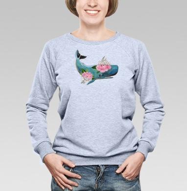 Кашалот - Купить детские свитшоты с акварелью в Москве, цена детских свитшотов с акварелью  с прикольными принтами - магазин дизайнерской одежды MaryJane