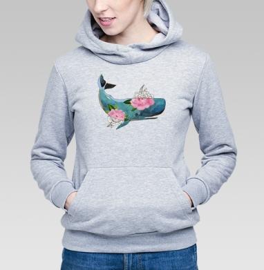 Кашалот - Купить детские толстовки с акварелью в Москве, цена детских  с акварелью  с прикольными принтами - магазин дизайнерской одежды MaryJane