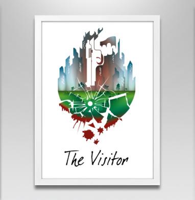 Новичок - Постер в белой раме, город