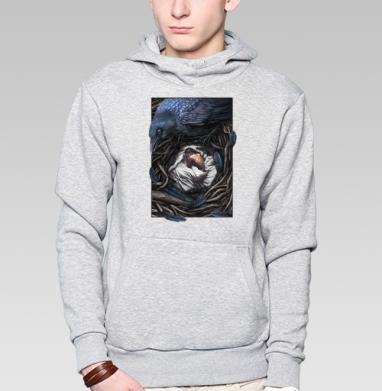 Ворон-страж - Купить толстовку с капюшоном мужскую