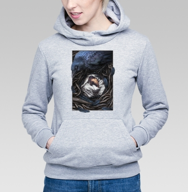 Ворон-страж - Купить детские толстовки со сказками в Москве, цена детских толстовок со сказками  с прикольными принтами - магазин дизайнерской одежды MaryJane