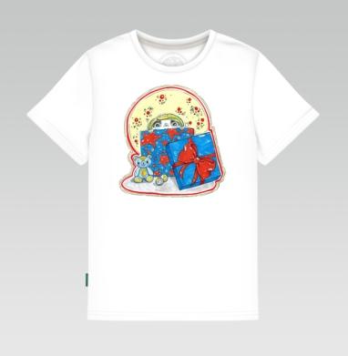 Детская футболка белая 160гр - Лучший твой подарочек - это я