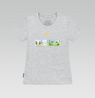 Футболка женская серый меланж - Черепахи