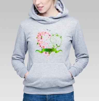 Весеннее сердце из цветов яблони - Купить детские толстовки романтика в Москве, цена детских толстовок романтических  с прикольными принтами - магазин дизайнерской одежды MaryJane