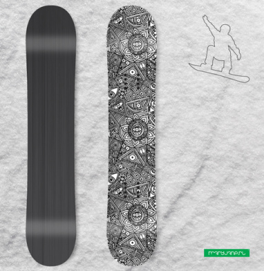 Бесшовный Узор - Виниловые наклейки на сноуборд купить с доставкой. Воронеж