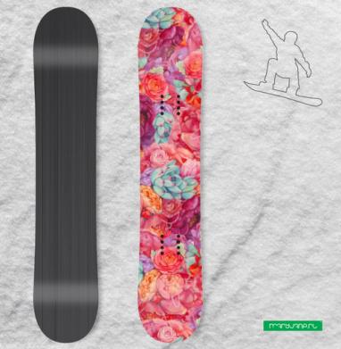 Цветочная страсть - Наклейки на доски - сноуборд, скейтборд, лыжи, кайтсерфинг, вэйк, серф