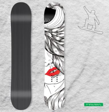 Контраст - Виниловые наклейки на сноуборд купить с доставкой. Воронеж
