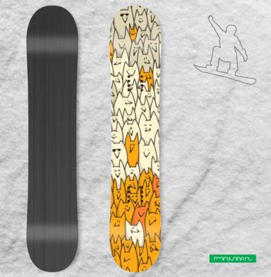 Лисья семейка - Наклейки на доски - сноуборд, скейтборд, лыжи, кайтсерфинг, вэйк, серф