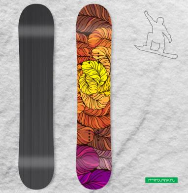 Осенние перышки - Наклейки на доски - сноуборд, скейтборд, лыжи, кайтсерфинг, вэйк, серф