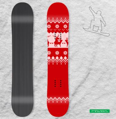 Рождественские узоры - Наклейки на доски - сноуборд, скейтборд, лыжи, кайтсерфинг, вэйк, серф