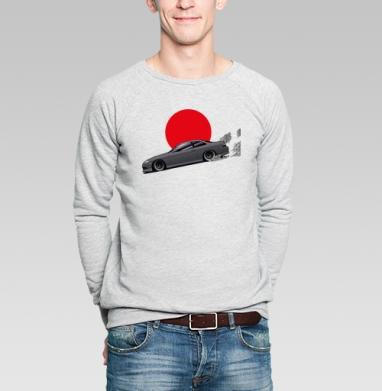 Парящий дрифт - Купить мужские свитшоты с автомобилями в Москве, цена мужских свитшотов с автомобилями  с прикольными принтами - магазин дизайнерской одежды MaryJane