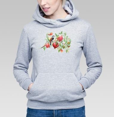 Гранатовая ветвь - Купить детские толстовки с акварелью в Москве, цена детских  с акварелью  с прикольными принтами - магазин дизайнерской одежды MaryJane
