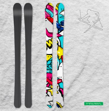 Яркие женские штучки - Наклейки на лыжи