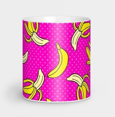 Сочный банановый паттерн - ретро, Новинки
