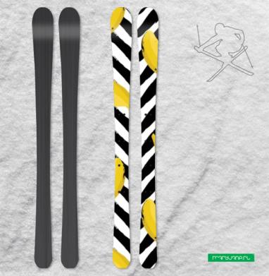 Желтые бананы - Наклейки на лыжи
