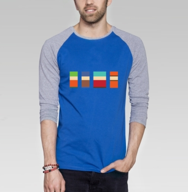 Южный спарк - Футболка мужская с длинным рукавом синий / серый меланж, мороженое, Популярные