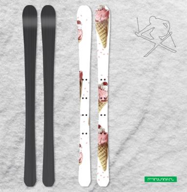Клубничный рожок - Наклейки на лыжи