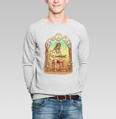 Старый лесной хиппи - Купить мужские свитшоты с деревьями в Москве, цена мужских свитшотов с деревьями  с прикольными принтами - магазин дизайнерской одежды MaryJane