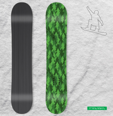 Хвойный лес - Наклейки на доски - сноуборд, скейтборд, лыжи, кайтсерфинг, вэйк, серф