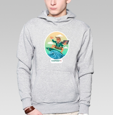 Безопасный серфинг вместе с касперским - пиксельарт - Толстовки.