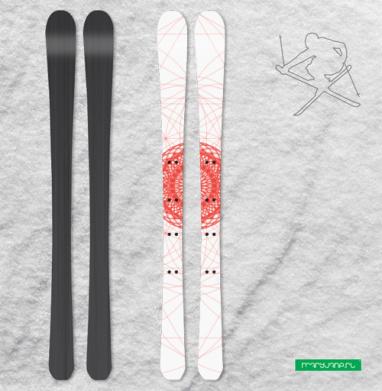 Геометрическое-сакральное - Наклейки на лыжи
