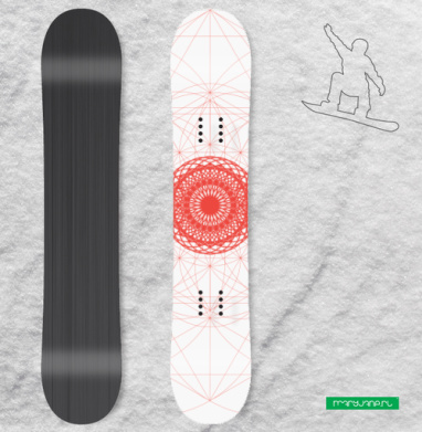 Геометрическое-сакральное - Наклейки на доски - сноуборд, скейтборд, лыжи, кайтсерфинг, вэйк, серф
