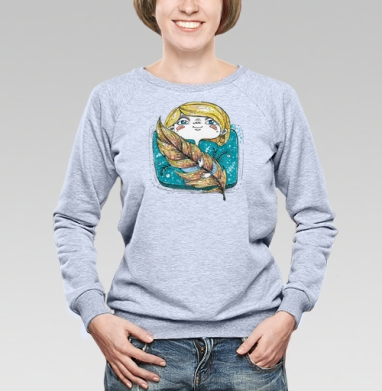Перышко в руках - Купить детские свитшоты с летом в Москве, цена детских свитшотов с летом  с прикольными принтами - магазин дизайнерской одежды MaryJane