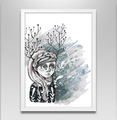 Серая весна - Постер в белой раме, секс