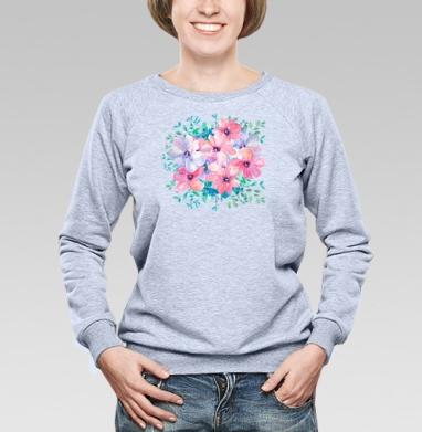 Цветы весны - Купить детские свитшоты с любовью в Москве, цена детских свитшотов с любовью  с прикольными принтами - магазин дизайнерской одежды MaryJane