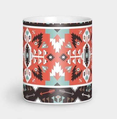 Декоративный этнический мексиканский узор - винтаж, Новинки