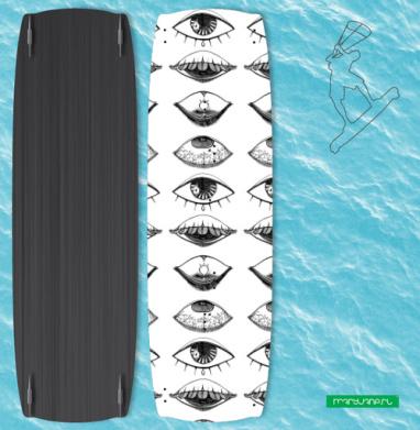 Четыре Глаза - Наклейки на кайтсерфинг/вэйк