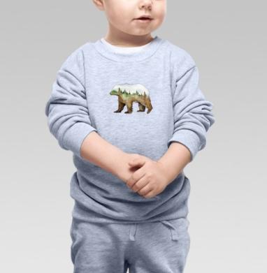 Лесной медведь - Купить детские свитшоты с природой в Москве, цена детских свитшотов с природой  с прикольными принтами - магазин дизайнерской одежды MaryJane
