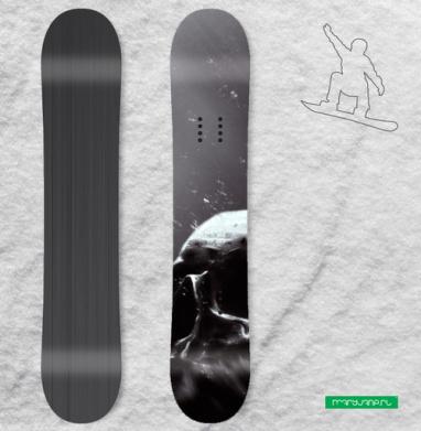 Череп под водой - Сплошные наклейки сноуборд c черепами