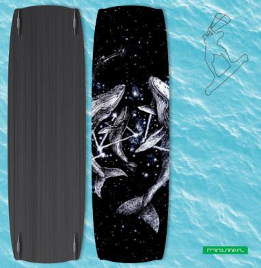 Межгалактические киты - Наклейки на кайтсерфинг/вэйк