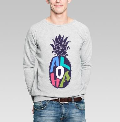 Алоха ананас - Купить мужские свитшоты с летом в Москве, цена мужских  с летом  с прикольными принтами - магазин дизайнерской одежды MaryJane