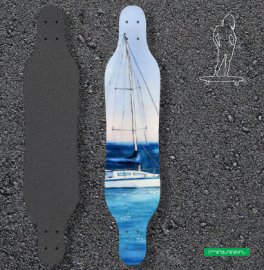 Тихая гавань - Наклейки на лонгборд