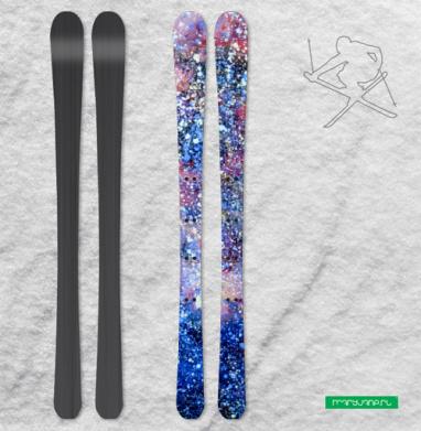 Туманность Андромеды - Наклейки на лыжи