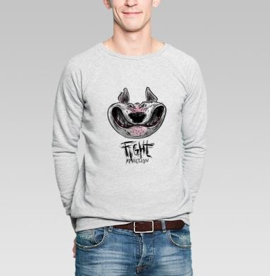 Бойцам - Купить мужские свитшоты с геометрическим рисунком в Москве, цена мужских свитшотов с геометрическим рисунком  с прикольными принтами - магазин дизайнерской одежды MaryJane