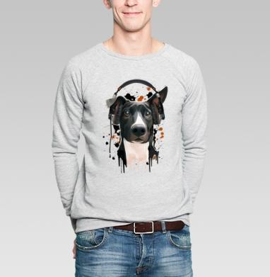Пёс меломан - Купить мужские свитшоты музыка в Москве, цена мужских свитшотов музыкальных  с прикольными принтами - магазин дизайнерской одежды MaryJane