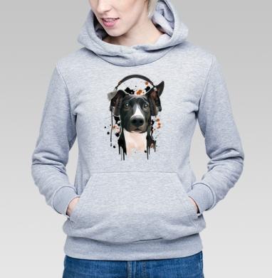 Пёс меломан - Купить детские толстовки с собаками в Москве, цена детских толстовок с собаками  с прикольными принтами - магазин дизайнерской одежды MaryJane