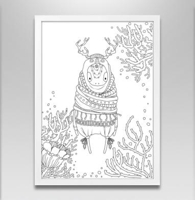 Странник - Постер в белой раме, сказки