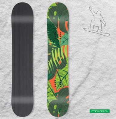 Тропический принт - Наклейки на доски - сноуборд, скейтборд, лыжи, кайтсерфинг, вэйк, серф
