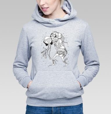 Попутчик, Толстовка Женская серый меланж 340гр, теплая