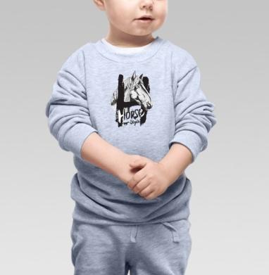 Морда лошади - Купить детские свитшоты романтика в Москве, цена детских свитшотов романтических  с прикольными принтами - магазин дизайнерской одежды MaryJane