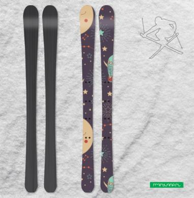 Добрая ночь - Наклейки на лыжи