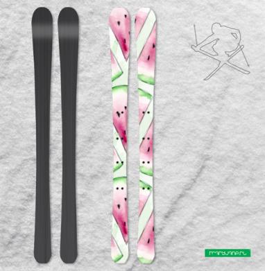 Сочный арбуз - Наклейки на лыжи