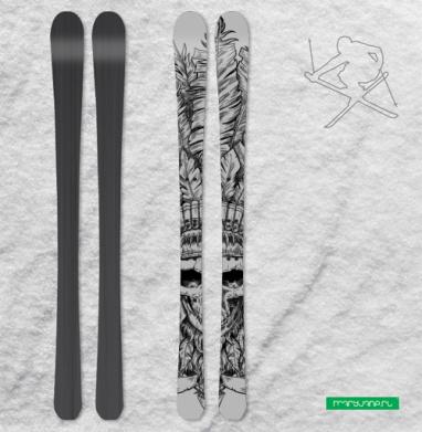 Вождь и перья - Наклейки на лыжи