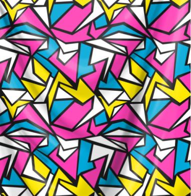 Абстрактный паттерн в стиле восьмидесятых - ретро, Популярные