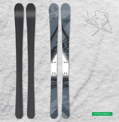Треугольник света - Наклейки на лыжи